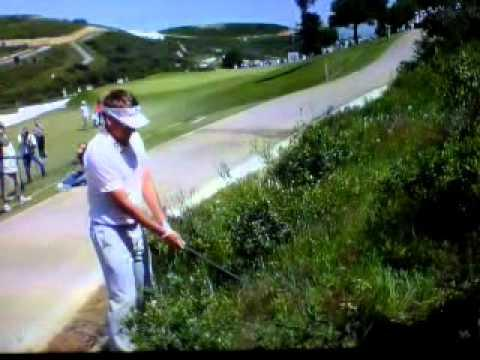 Ian Poulter - Ian Poulter falls over Volvo matchplay
